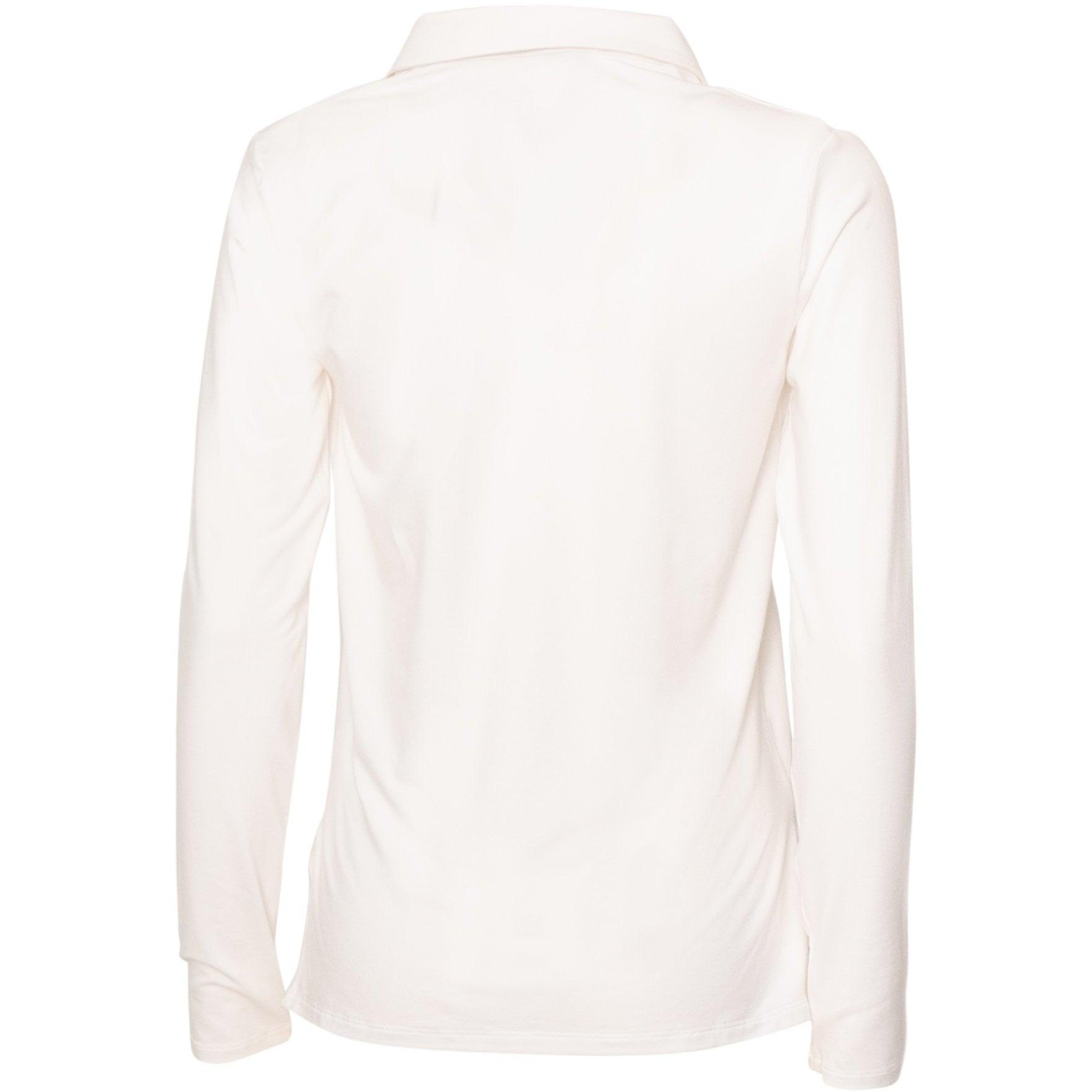 Women Bamboo Polo Top in White