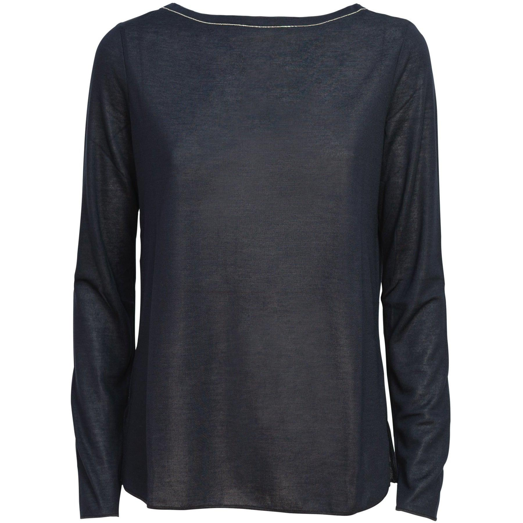 Women Long Sleeve Modal Top in Black