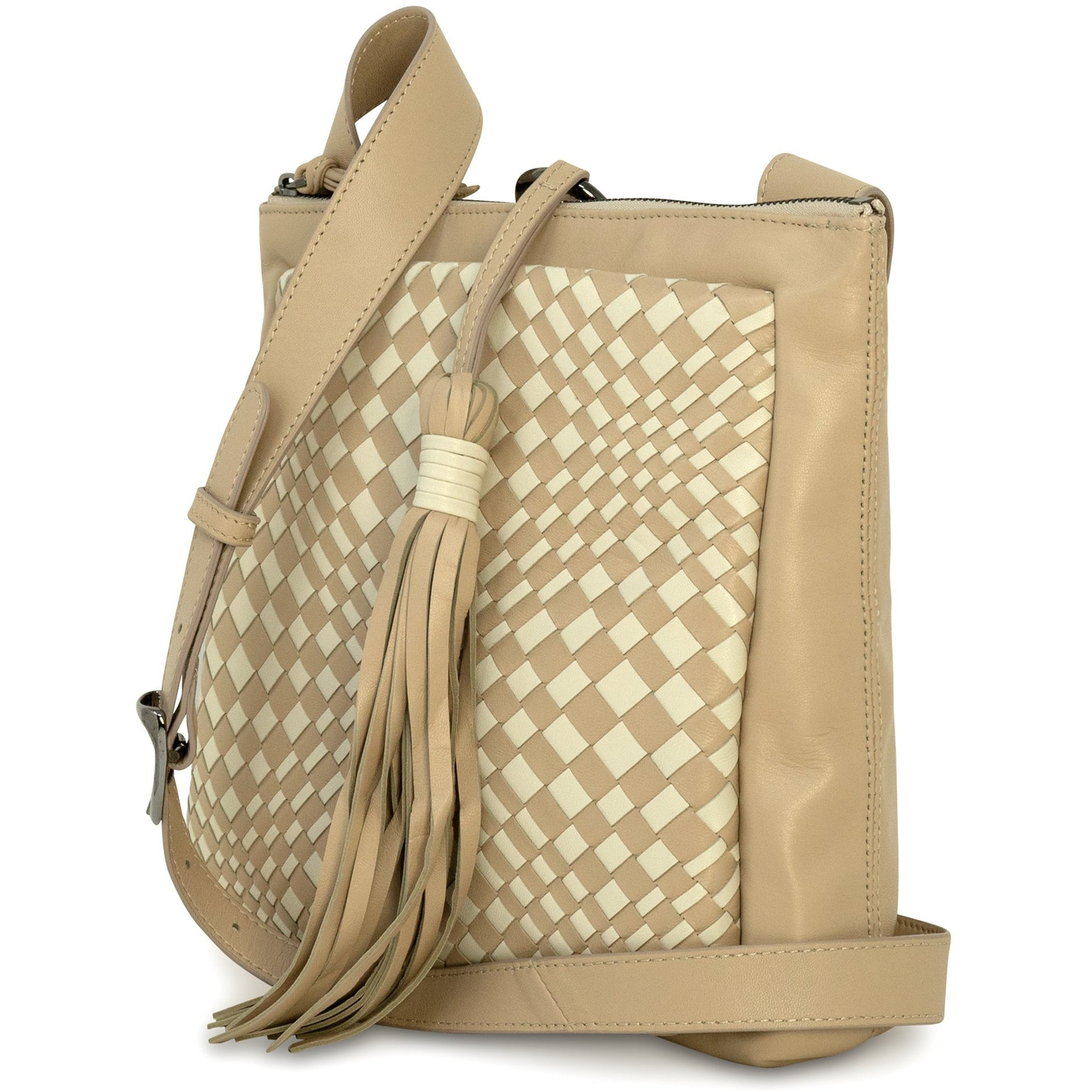 GINGER IS Crossbody Bag Intrecciato Optical Nappa Riso - Jennifer Tattanelli