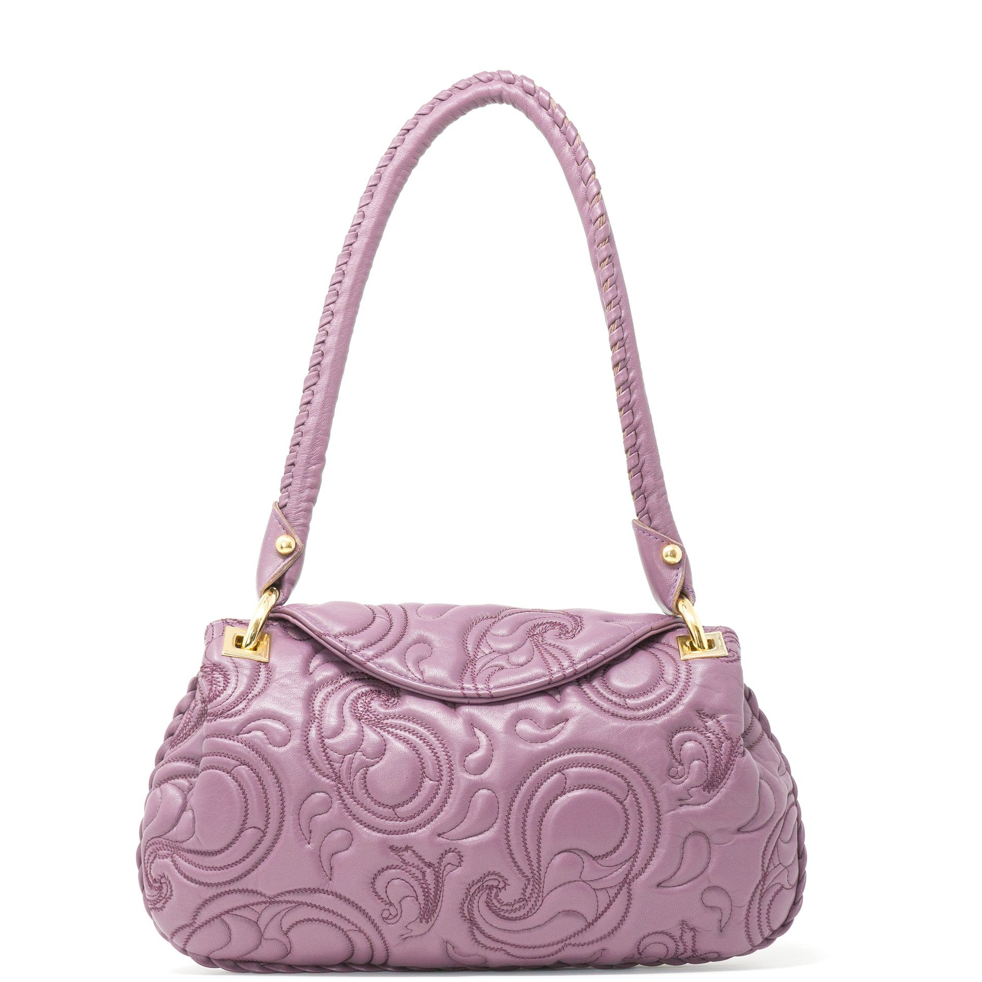JT012 5023 30 Women Quilted Pasley Leather Shoulder Bag - Jennifer Tattanelli