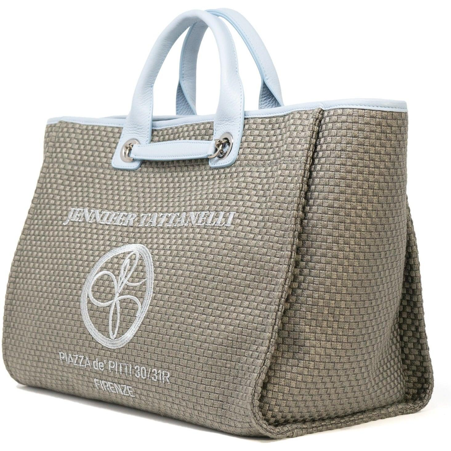 The Hamptons Large Shopping Bag in Sky Blue