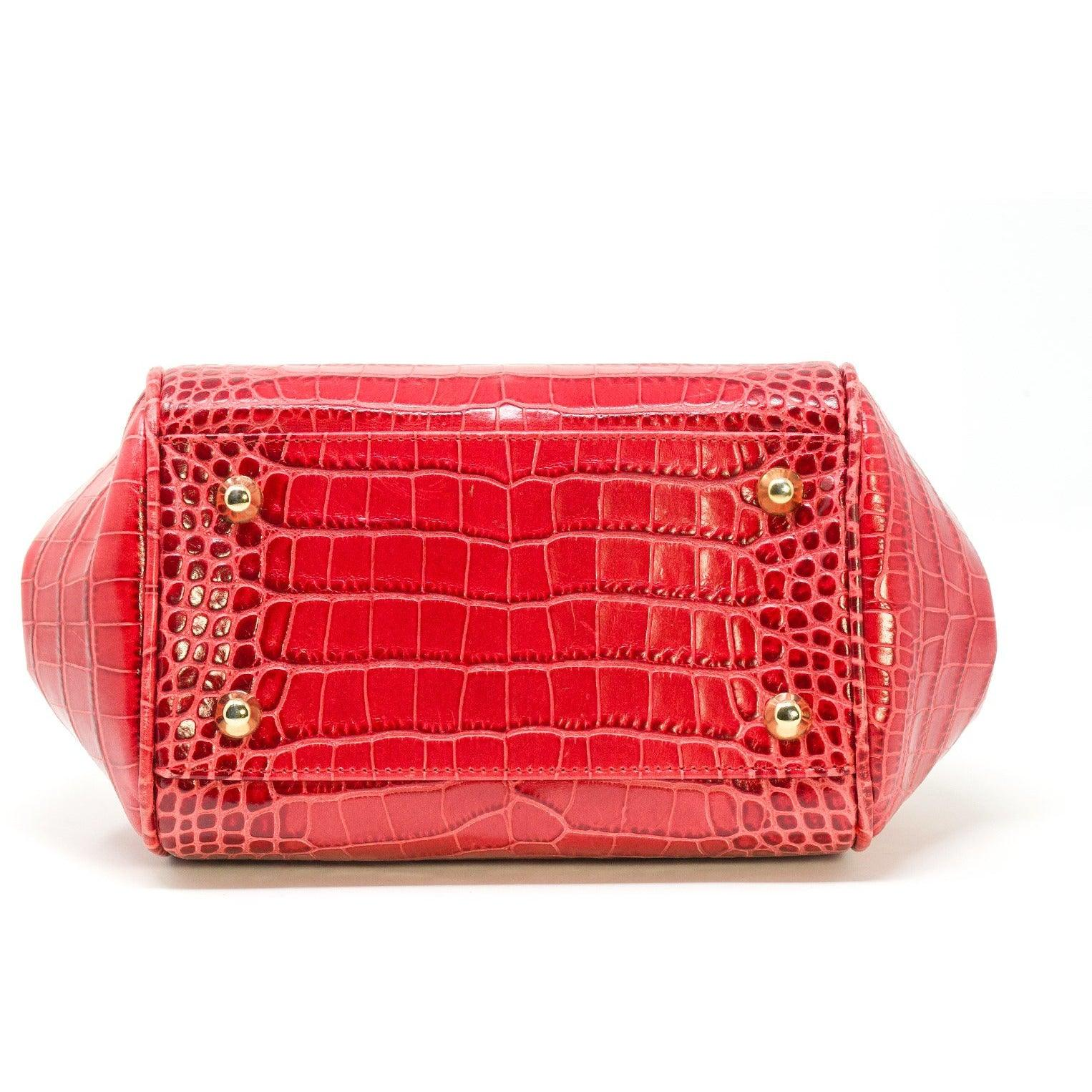 JT265 5403 Top Handle Printed Crocodile Bag - New Fall Winter 2019-2020 Collection