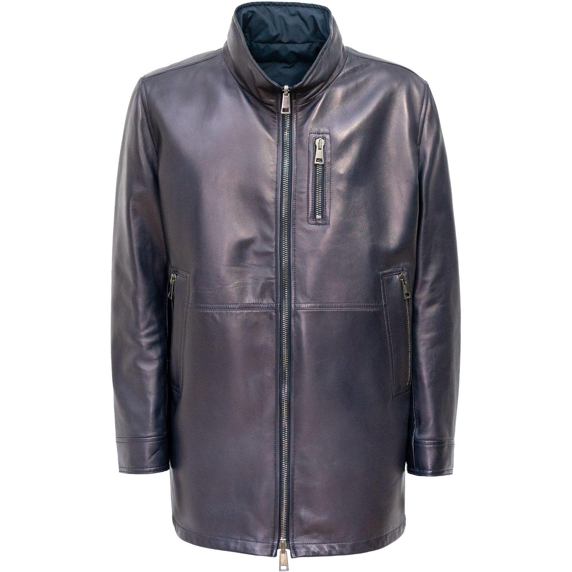 PRG008M Men Leather Jacket - New Fall Winter 2019-2020 Collection