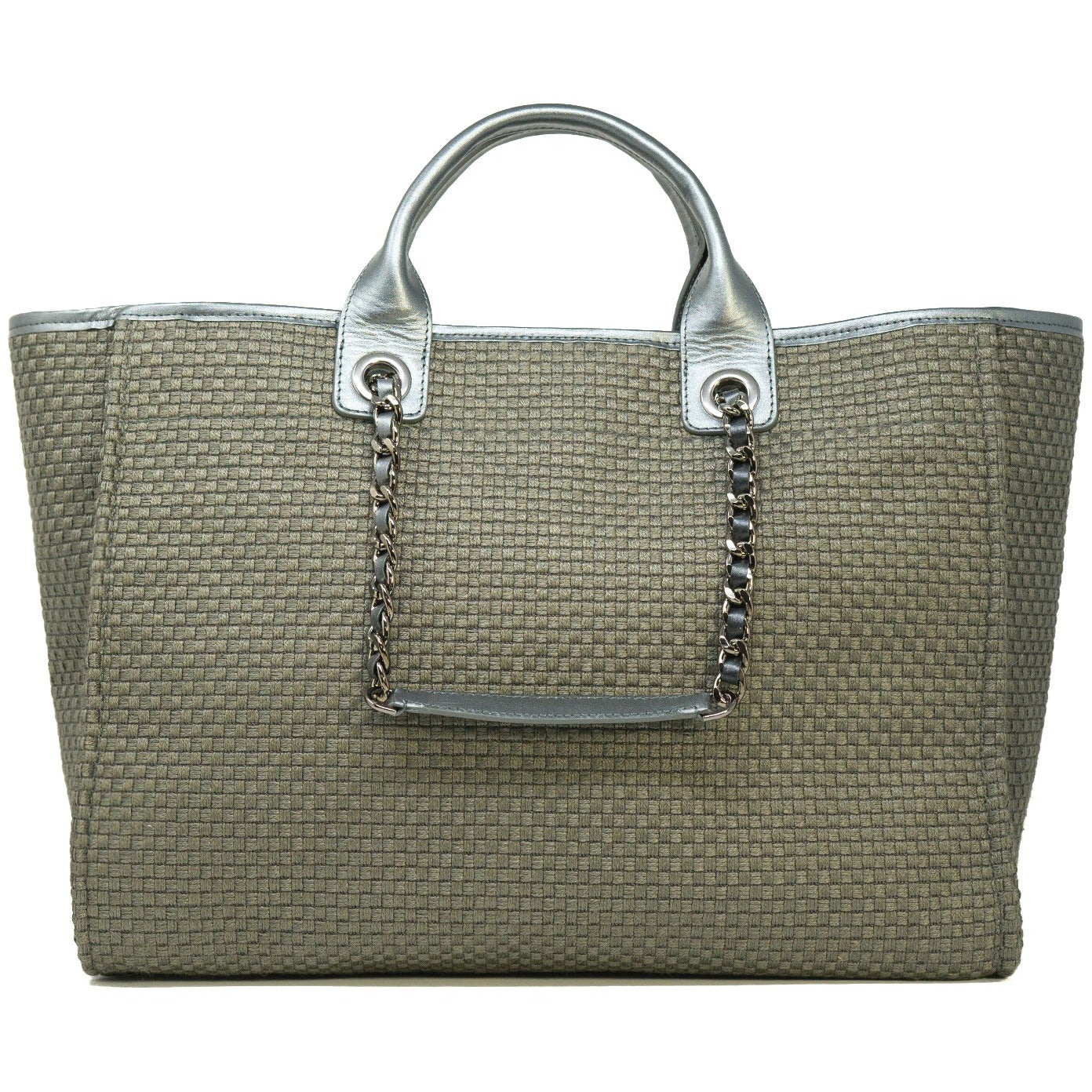 The Hamptons Large Shopping Bag in Pearl Grey
