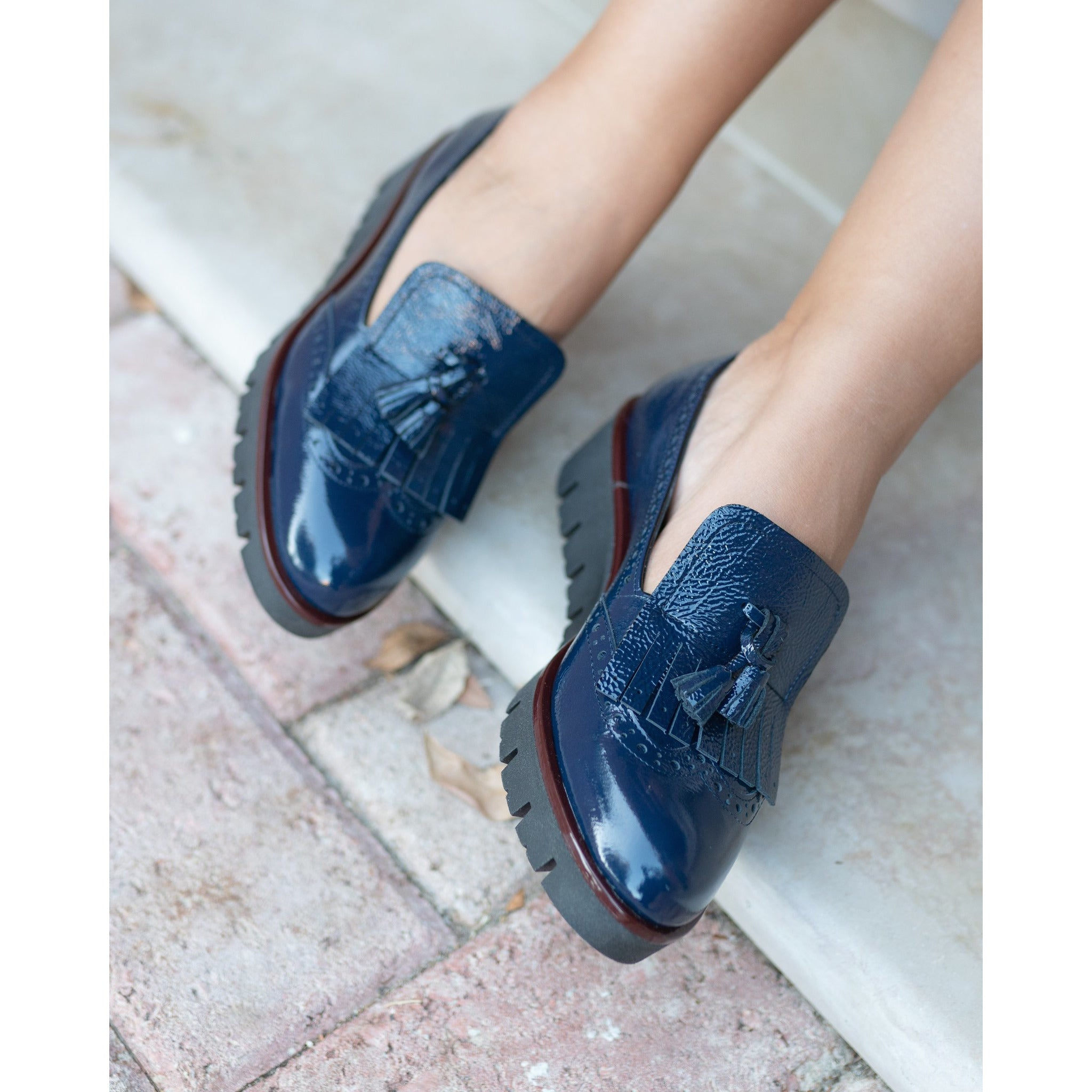 MIL6065 T20 Women Slip On in Blue Patent Leather