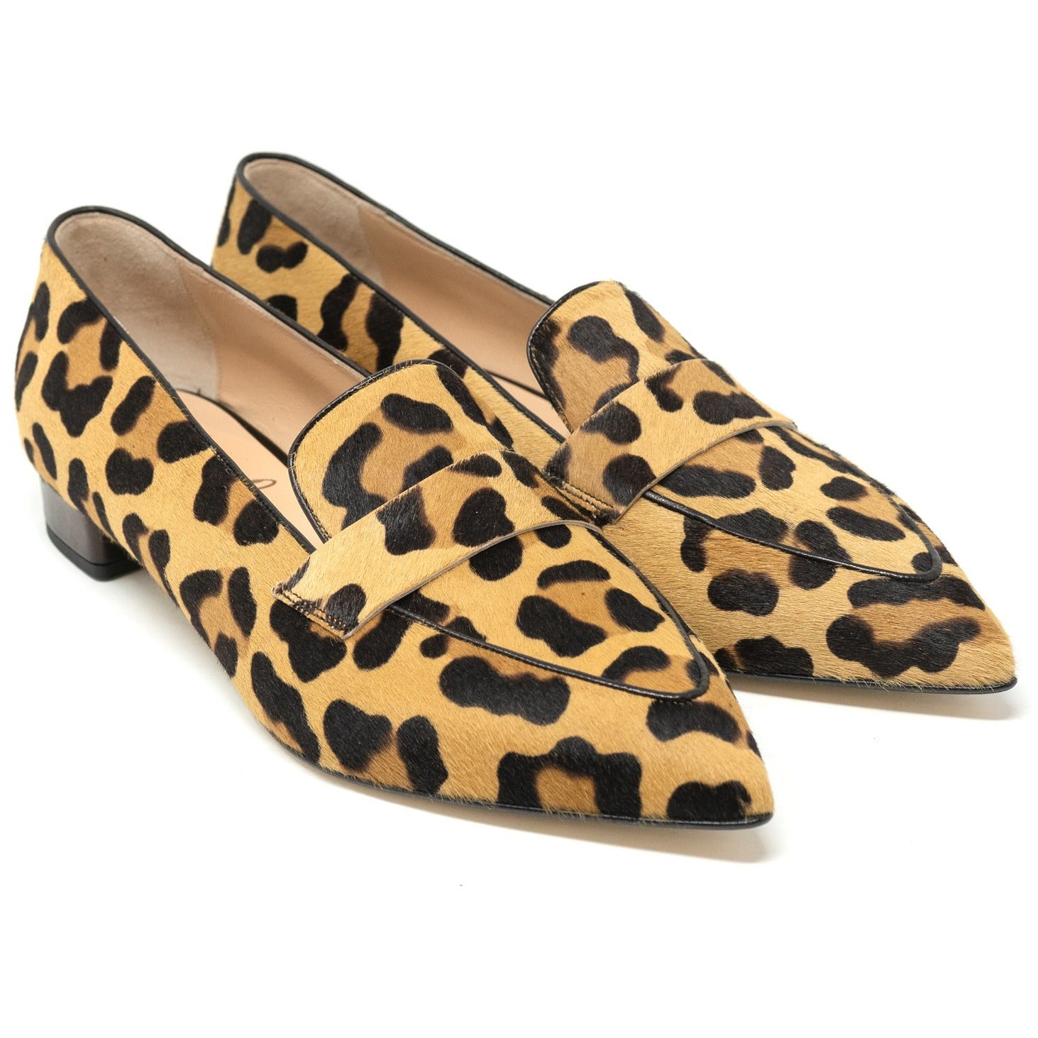 DDL4308 T20 Leopard Lamb Hair Women Slip On - Jennifer Tattanelli