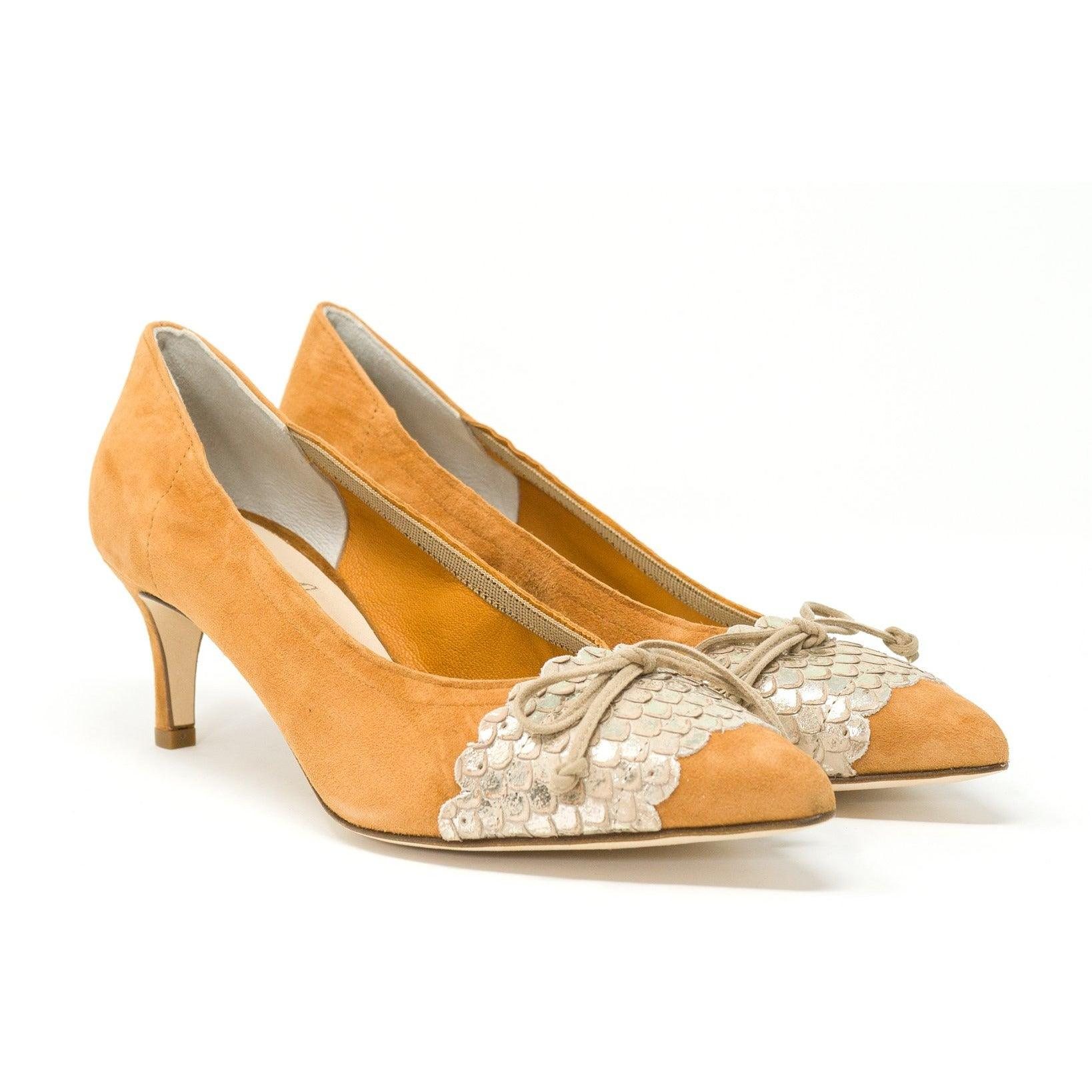 Women's Lamb Skin Leather Pumps in Cuoio