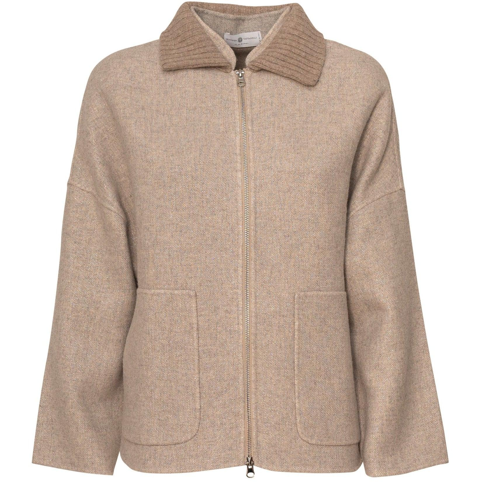 Women Coat Knitwear in Beige