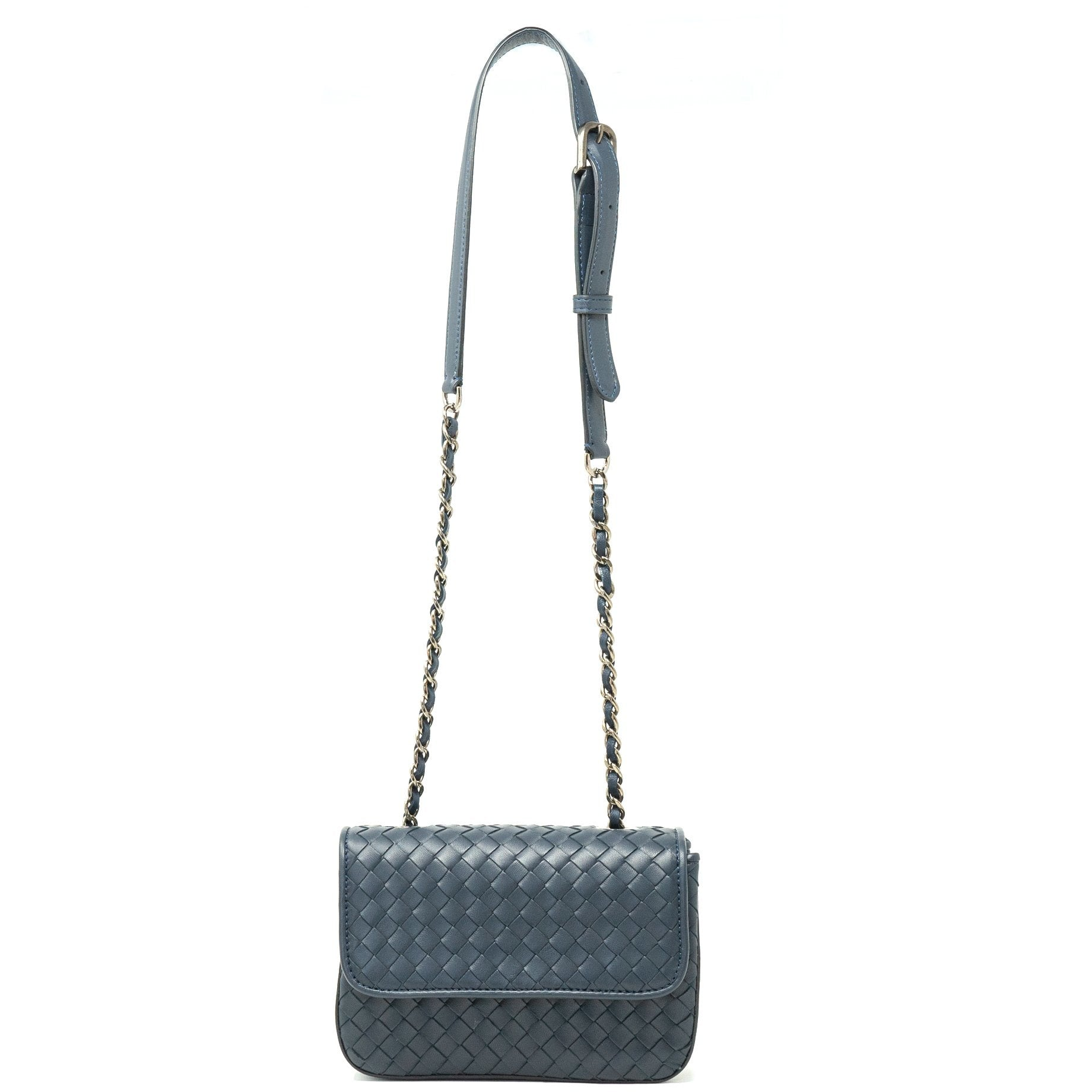 Women Intrecciato Leather Clutch - Jennifer Tattanelli
