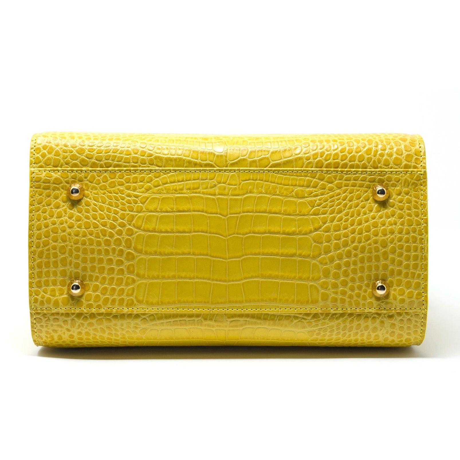 JT338 5415 Top Handle Bag Printed Crocodile - New Fall Winter 2019-2020 Collection