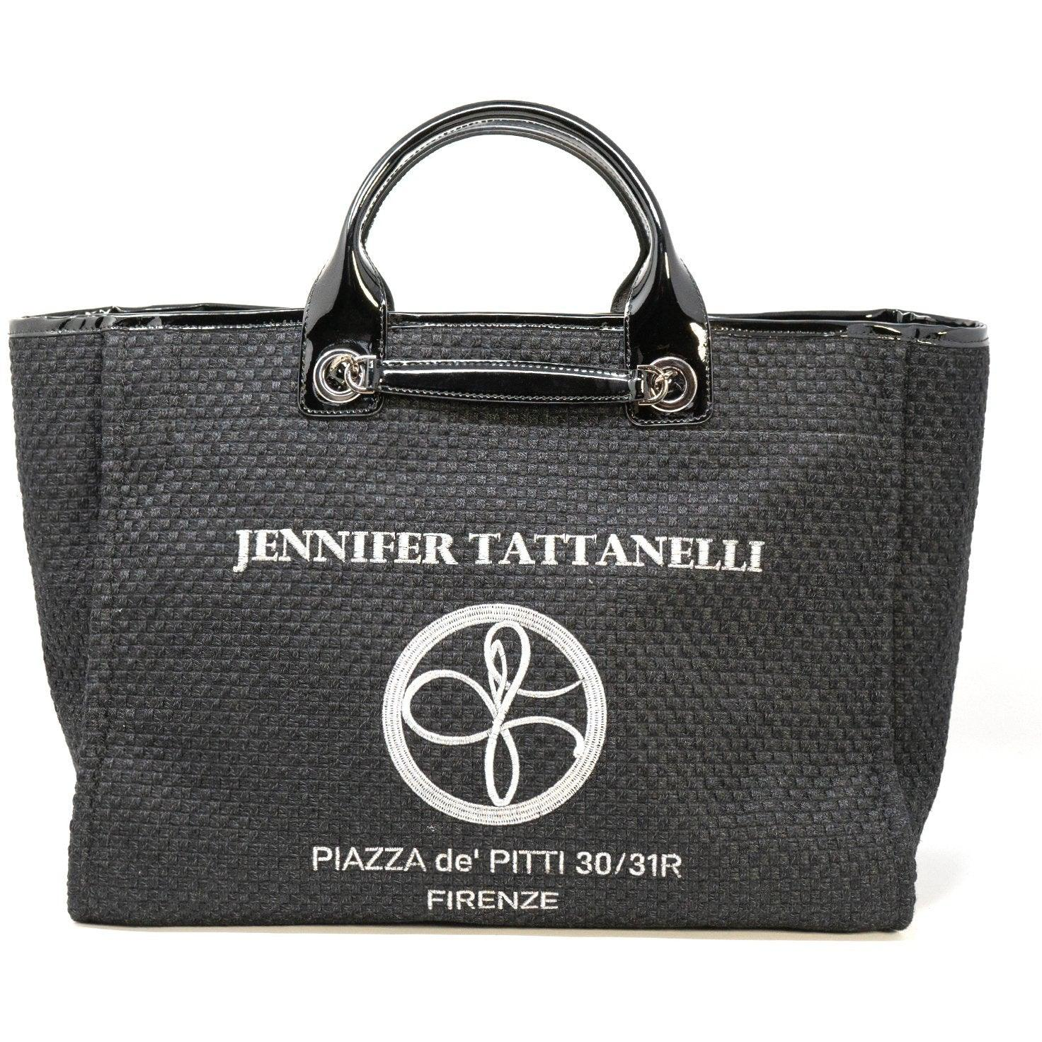 The Hamptons Bag in Patent Black Leather