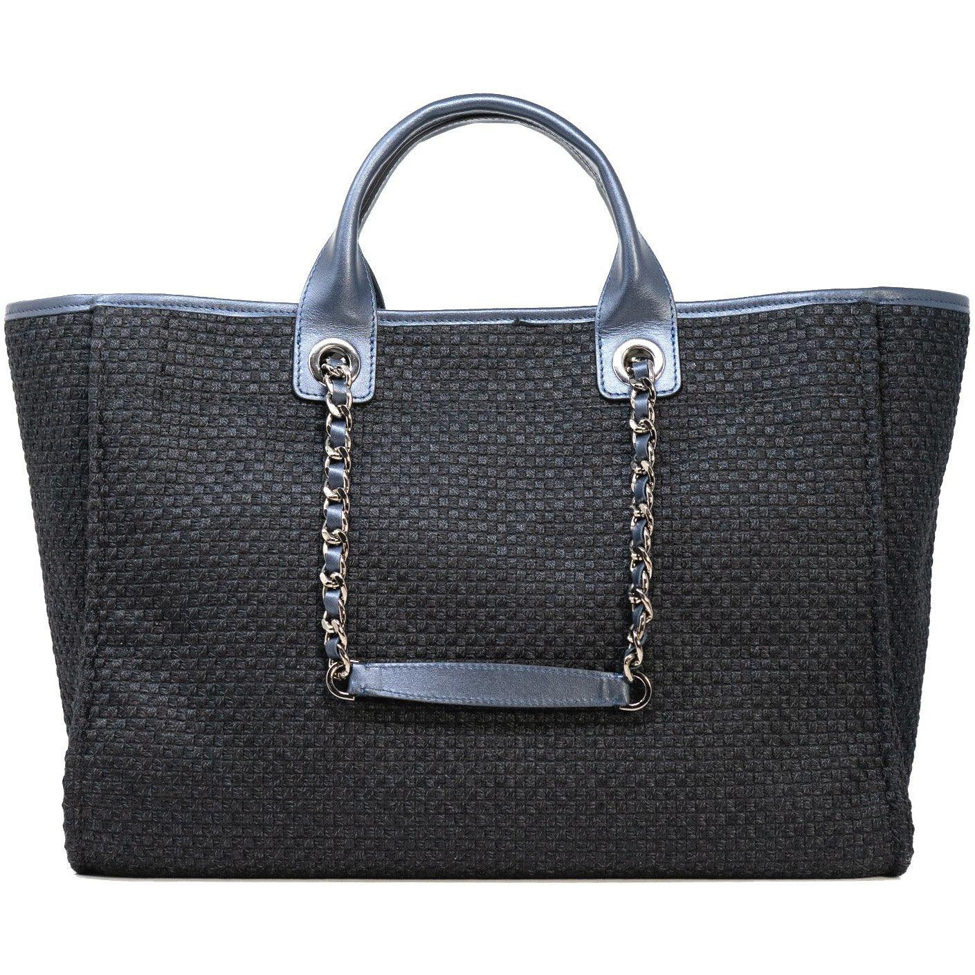 The Hamptons Large Shopping Bag in Pearl Blue