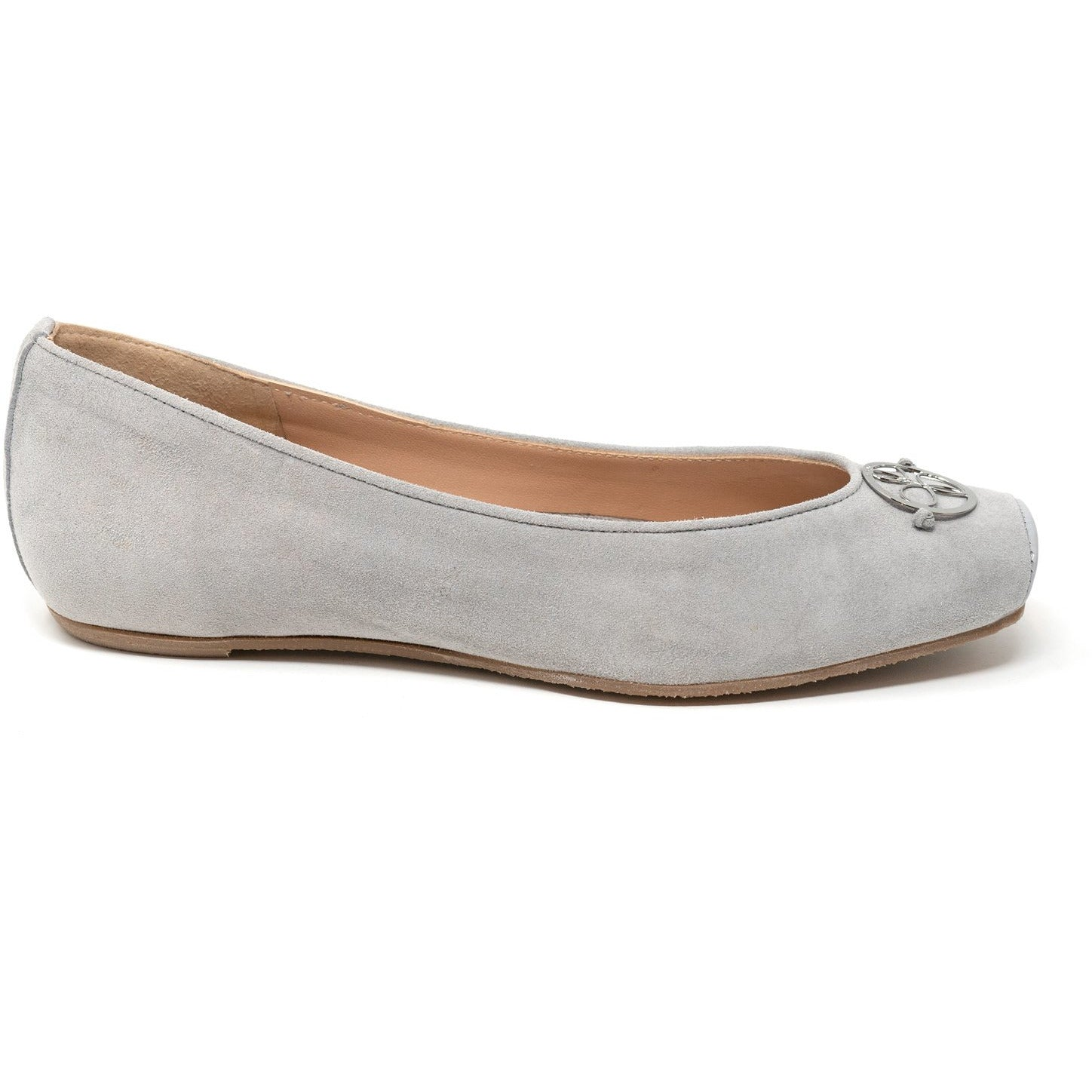 Women Ballerina Shoes with hidden heel in Suede Soft - Jennifer Tattanelli