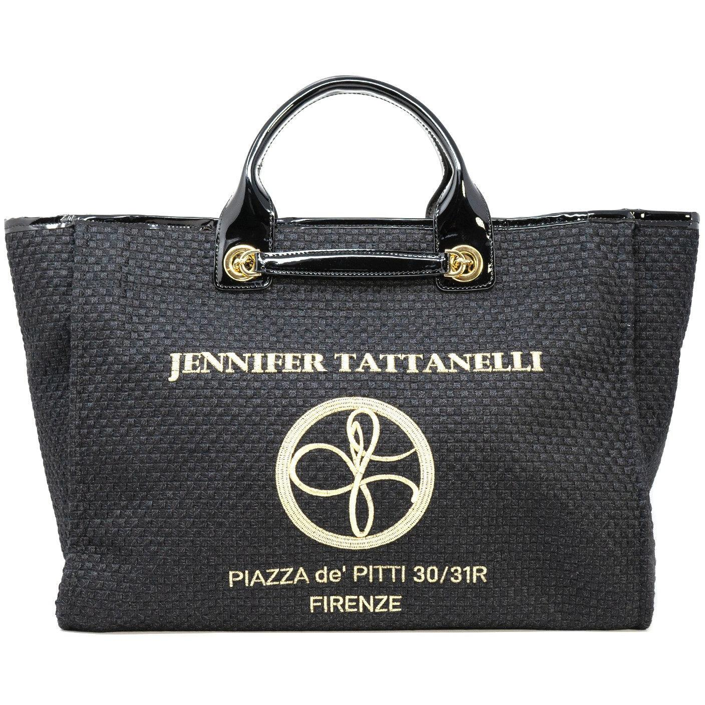 The Hamptons Large Shopping Bag in Black Patent Leather