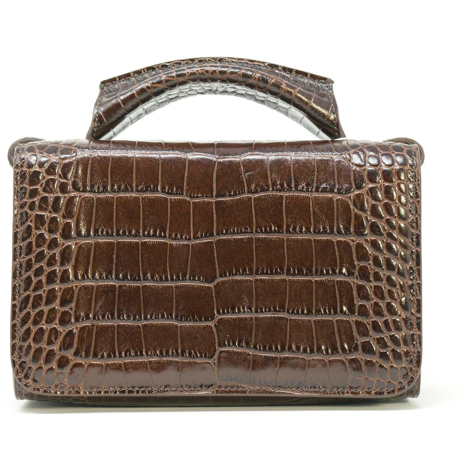 JT331 F003 Top Handle Printed Crocodile Bag - New Fall Winter 2019-2020 Collection