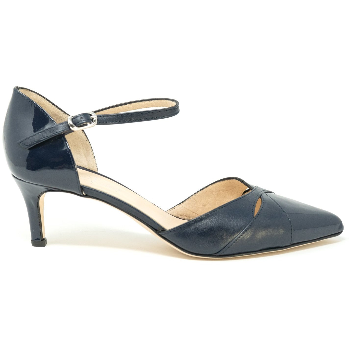 Women Leather Pumps in Patent Black Leather - Jennifer Tattanelli