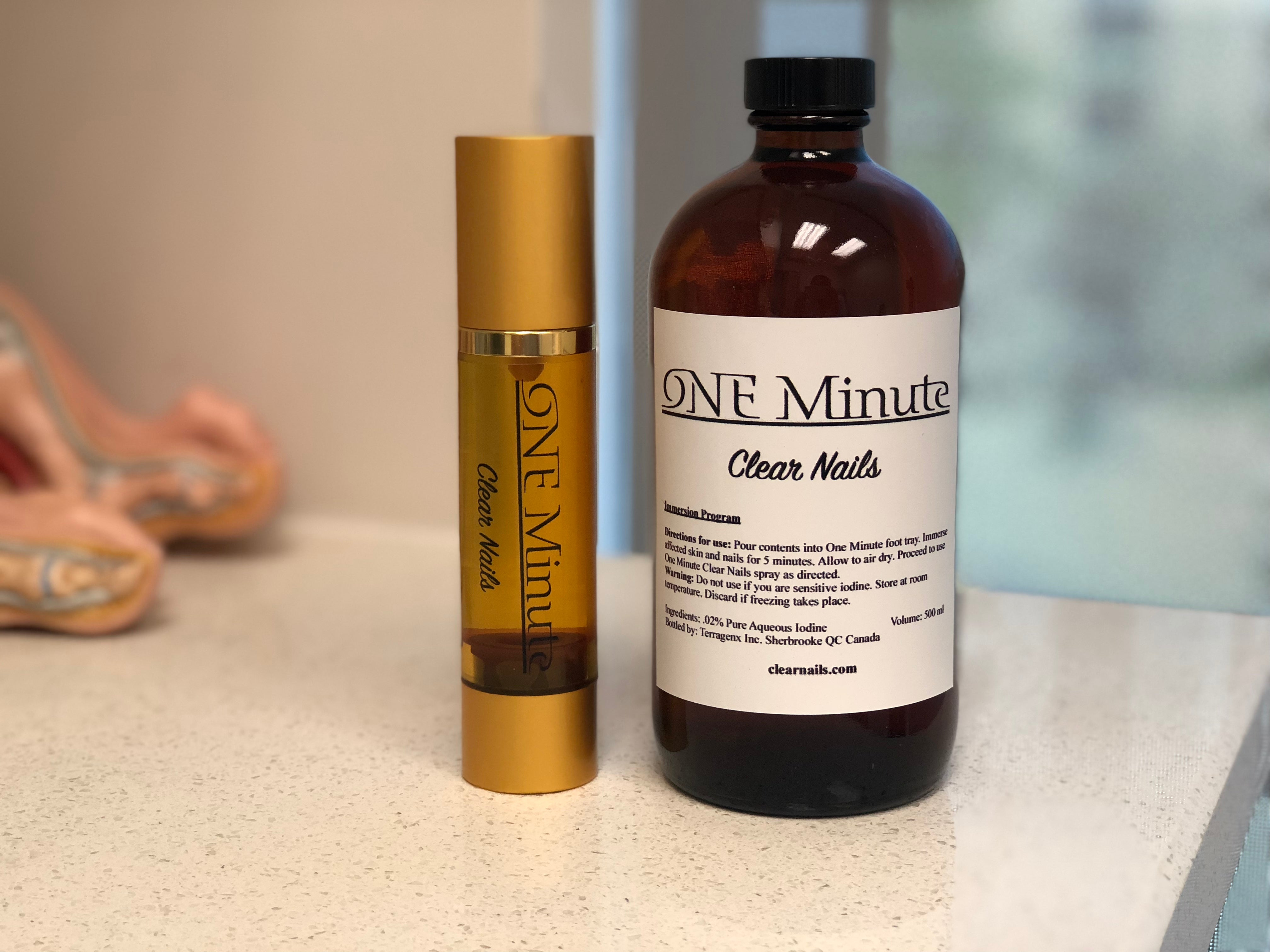 One Minute Clear Nails Kit – The Toe Bro