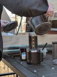 Even tailgating you can have a perfect cup of coffee with the AeroPress!