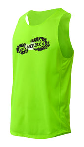 Men's Racing Singlet/Tank - Lime Green