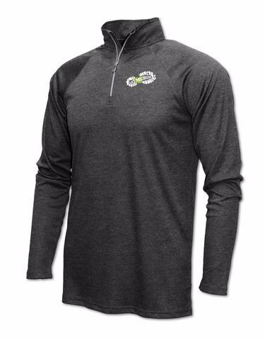 Xtreme-Tek Quarter-Zip Pullover - Mens Heather Black