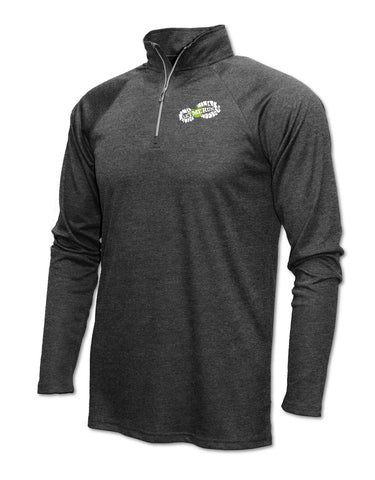 Xtreme-Tek Quarter-Zip Pullover - Youth Heather Black