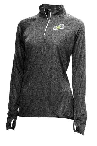 Xtreme-Tek Quarter-Zip Pullover - Womens Heather Black