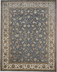Chantel Grey handmade area rug Shop Tapis