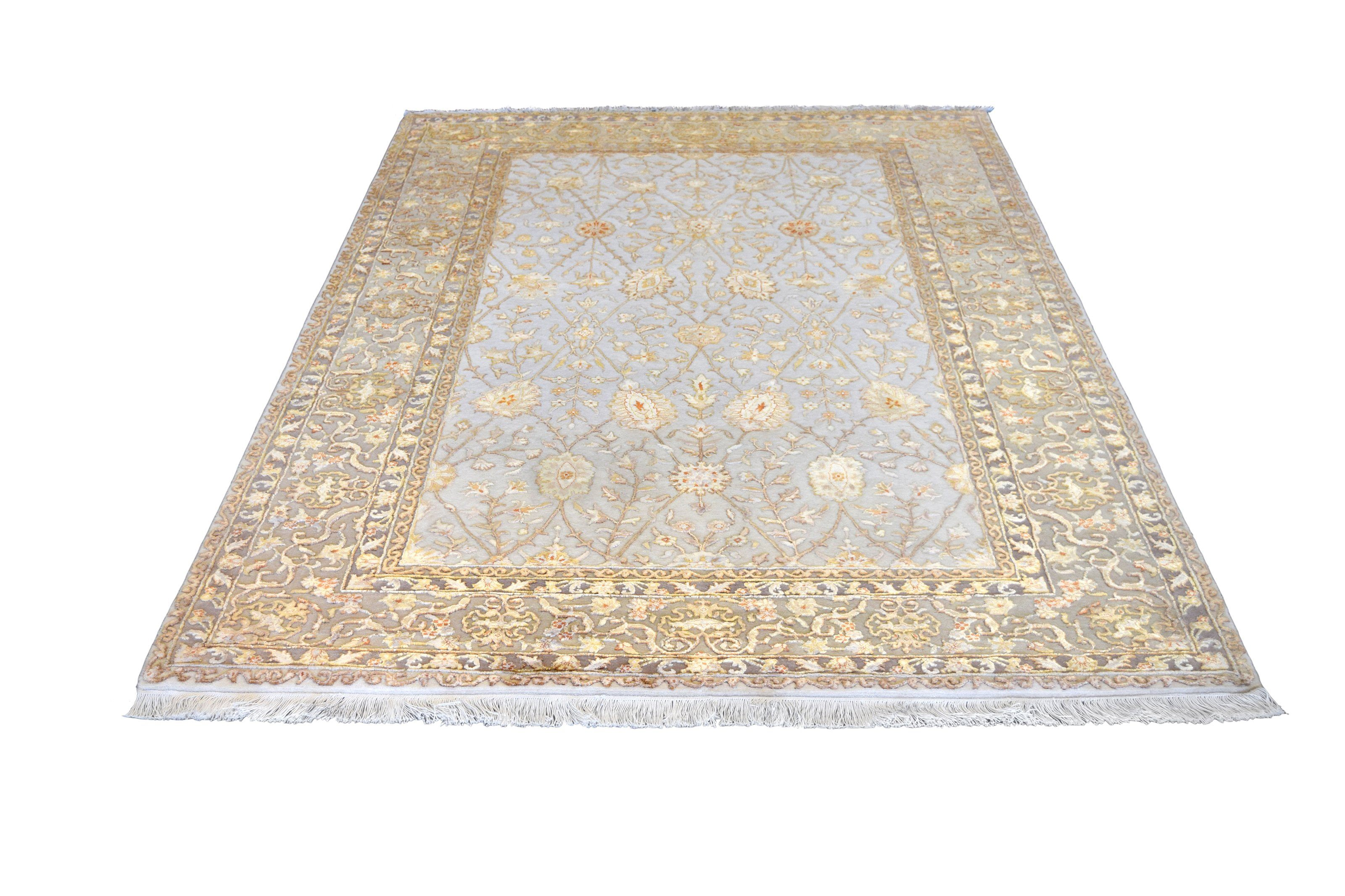 "Dreamy Silk Flower Rug handmade area rug Shop Tapis 5'3"" X 8'2"""