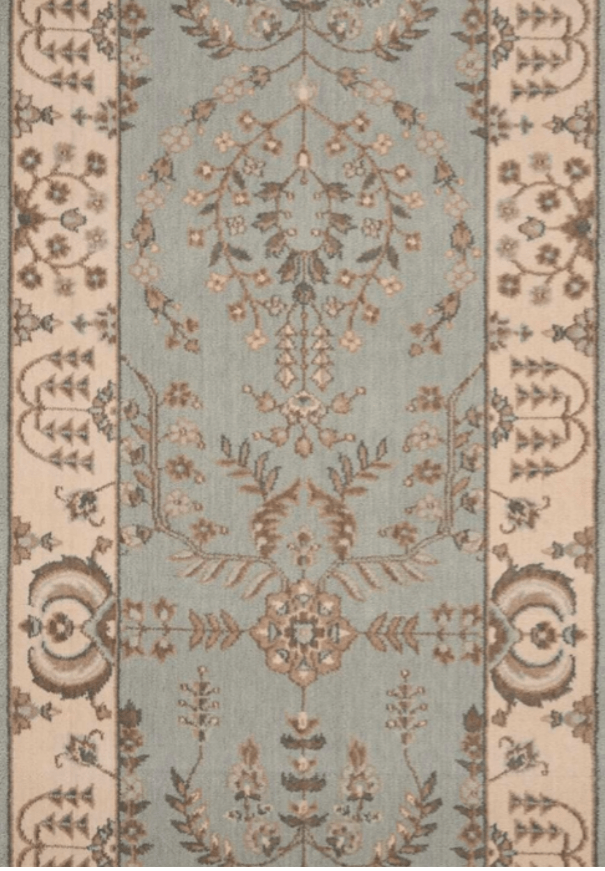 Grand Parterre Sarouk Border Stair Runner runner Shop Tapis Coastal 30""