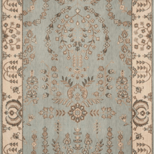 Grand Parterre Sarouk Border Stair Runner runner Shop Tapis Coastal 41""