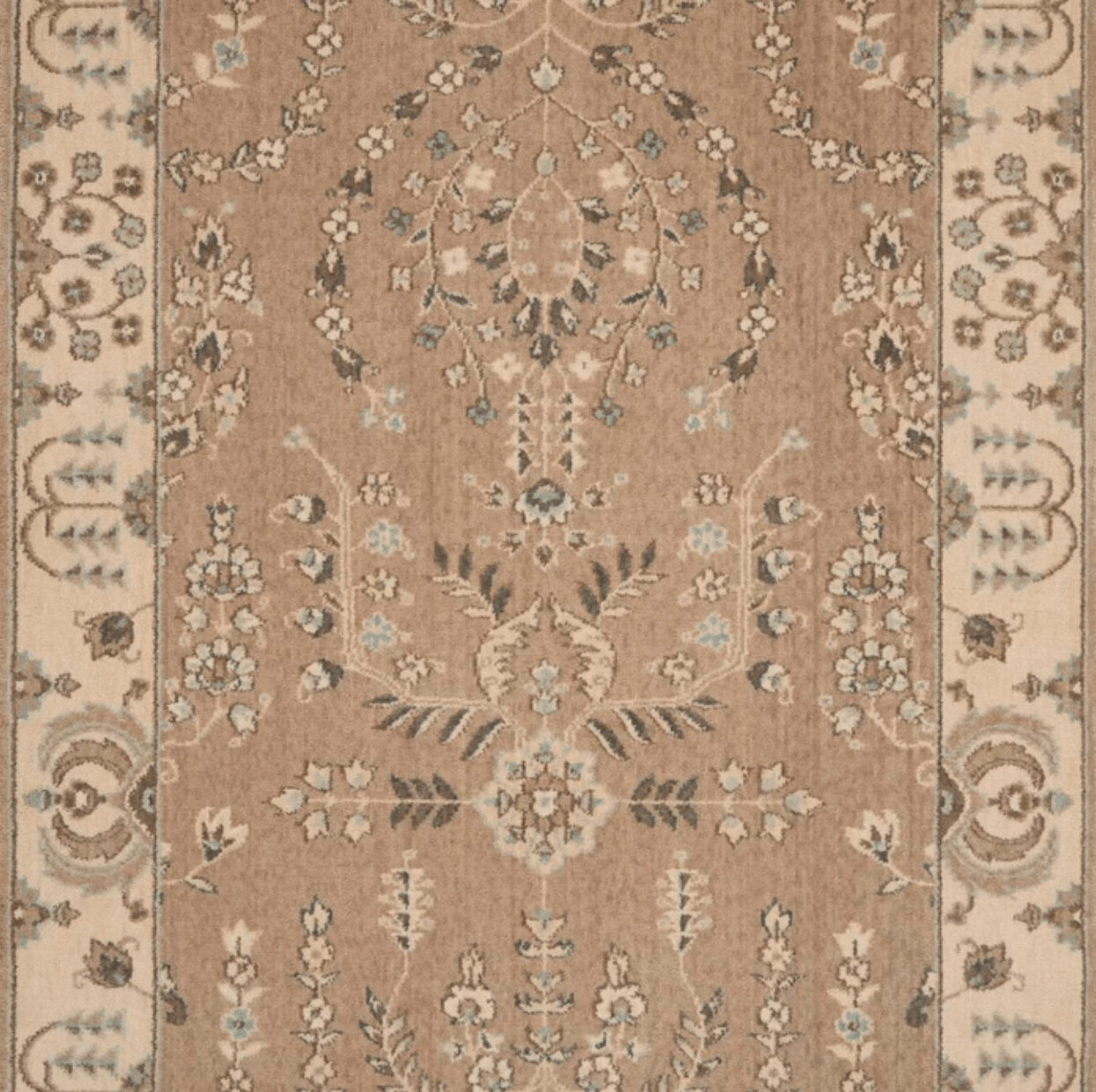 Grand Parterre Sarouk Border Stair Runner runner Shop Tapis Hazelnut 41""