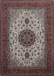 Isfahan Medallion Red Rug handmade area rug Shop Tapis