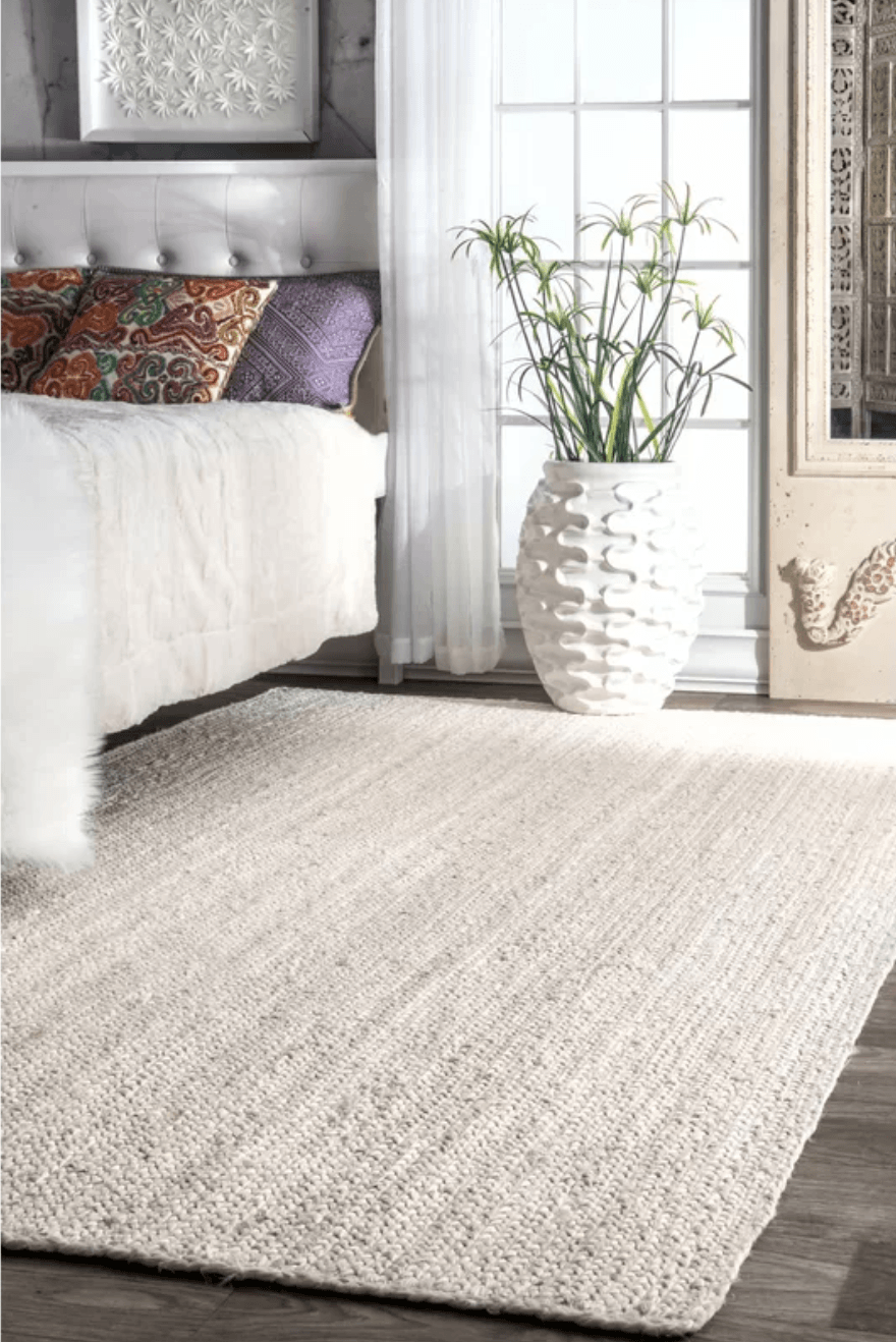 Jute/Sisal White Rug Sale Shop Tapis