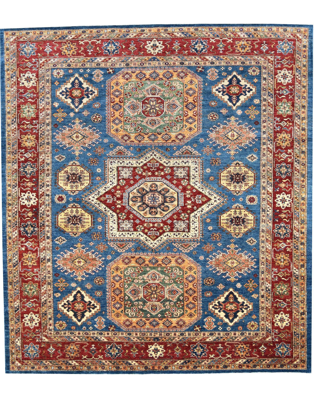 Kazak Natural Blue Rug handmade area rug Shop Tapis