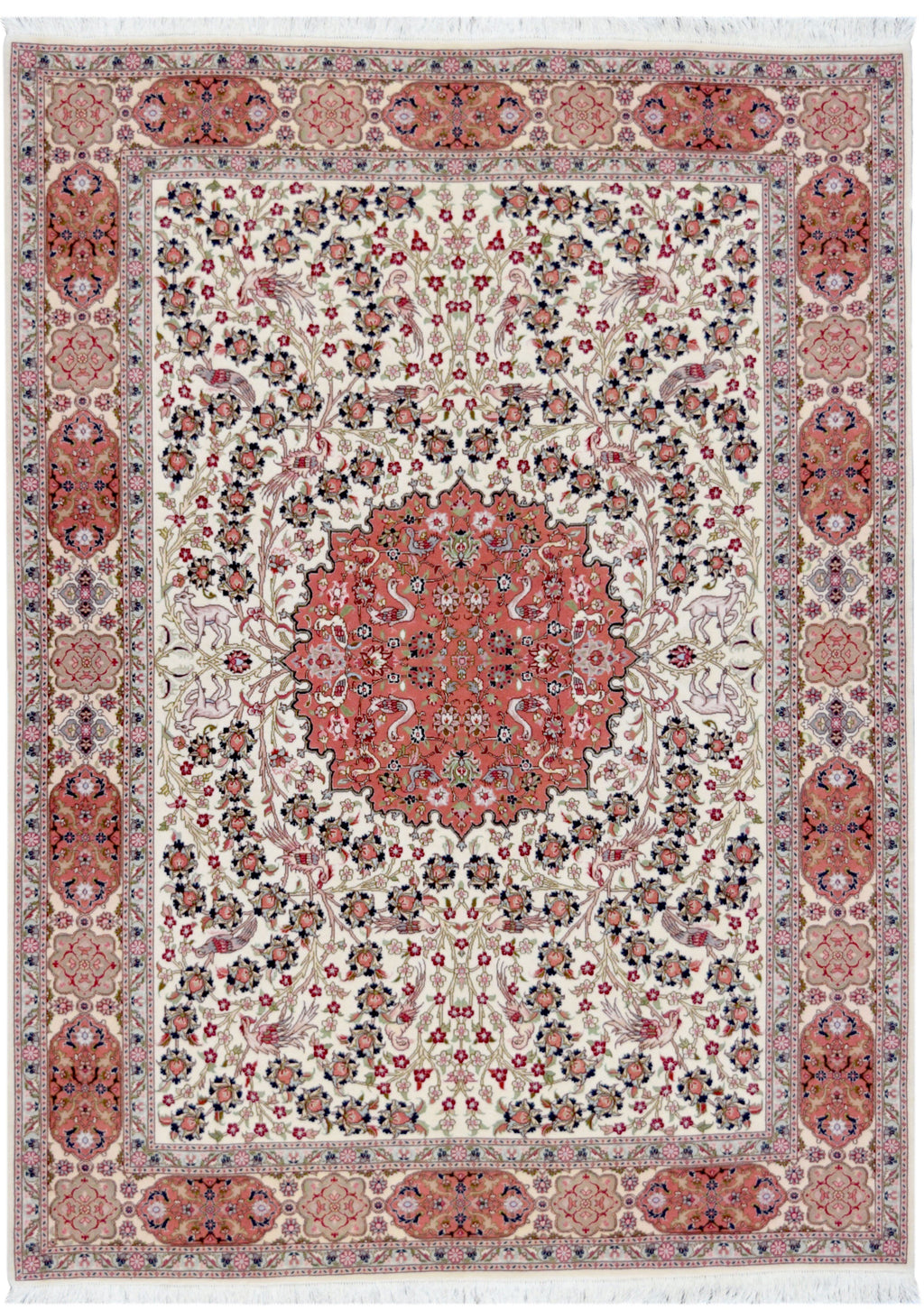 Persian Rose Tabriz Rug handmade area rug Shop Tapis