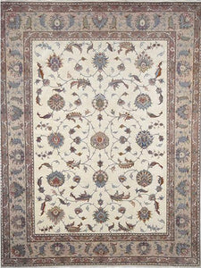 Persian Tabriz Ivory Taupe Rug handmade area rug Shop Tapis