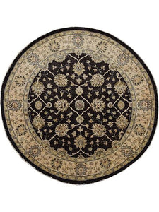 Round Peshawer Toasted Oak Rug Shop Tapis