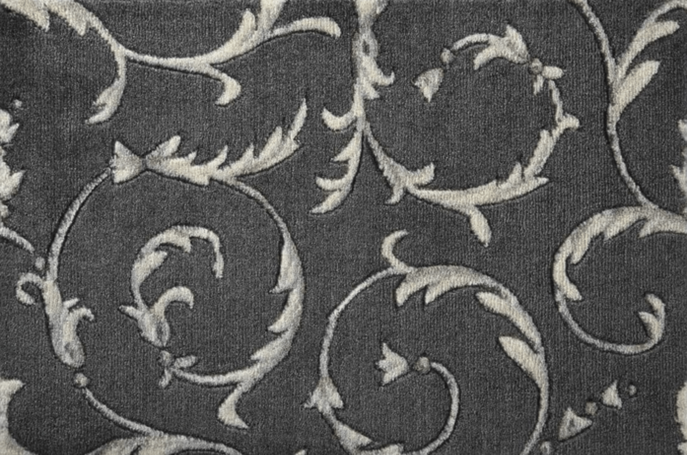 Somerset Scrollwork Stair Stair Runner & Broadloom runner Shop Tapis Charcoal