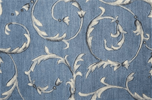 Somerset Scrollwork Stair Stair Runner & Broadloom runner Shop Tapis Light blue