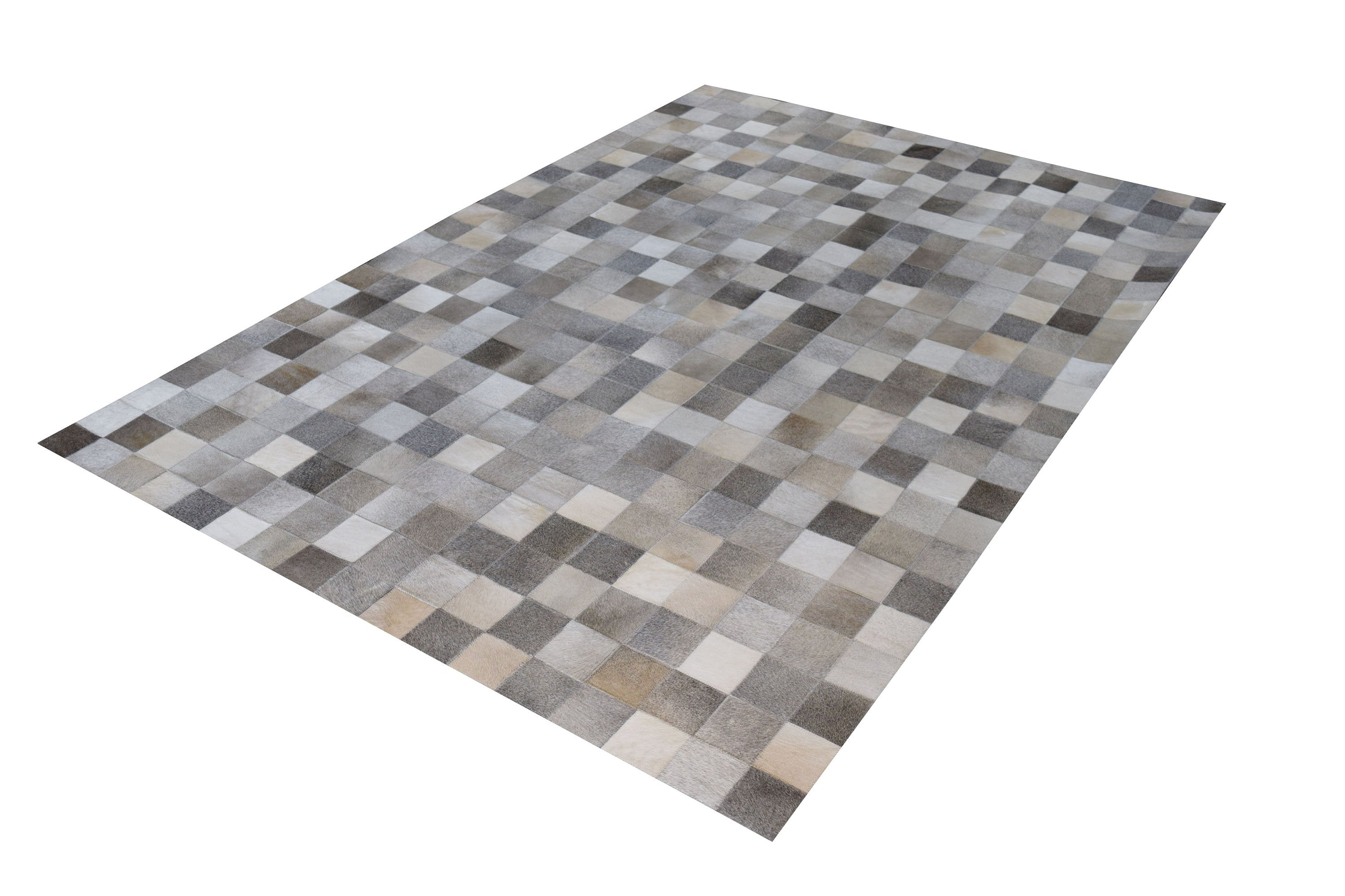 South American Cowhide Tile Area Rug Modern Shop Tapis