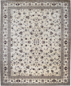 Tabriz design Allover Floral Rug handmade area rug Shop Tapis