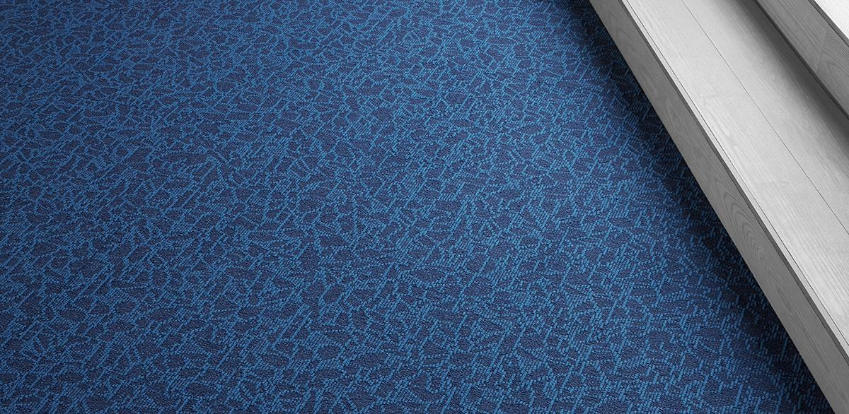 Una Crystalline Beige/Grey Commercial Broadloom Shop Tapis Blue