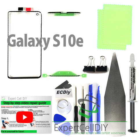 Samsung Galaxy S10e Front Screen Glass Repair Kit
