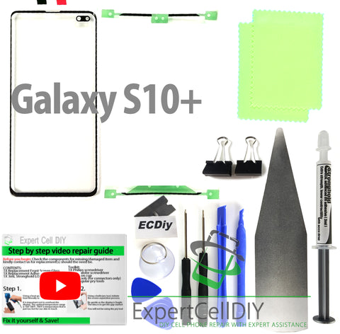 Samsung Galaxy S10+ Plus Front Screen Glass Repair Kit