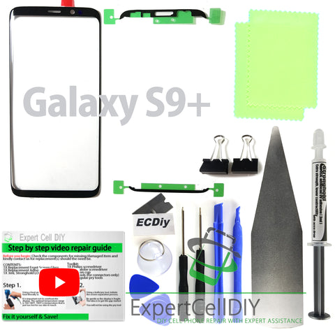 Samsung Galaxy S9+ Plus Front Screen Glass Repair Kit