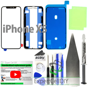 Apple iPhone XS Front Screen Glass Repair Kit