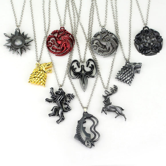 Game of Thrones House Necklaces