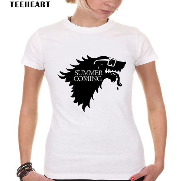 Womens House Stark Summer is Coming humor Tee