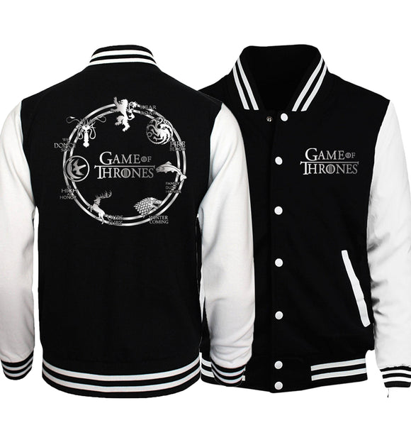 Mens Game of Thrones Baseball style jacket