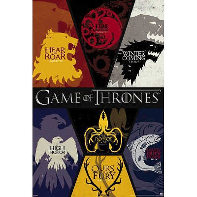Game of Thrones House Posters 27x40